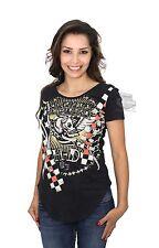 Harley-Davidson Women's Graphic Skull Scoop Neck Short Sleeve Tee 96289-16VW