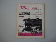 advertising Pubblicità 1963 TRENI RIVAROSSI HO
