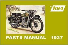 BSA Parts Manual 1937 all models Y13 G14 M19 M20 M21 M22 M23 etc Spares List