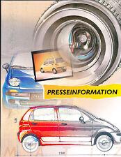 1999 2000 Daewoo Matiz Press Photo Prints and Brochure
