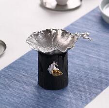 Pure Tin Tea Filter Strainer Leaf Shaped Tea Filter Kung Fu Tea Tool Accessories