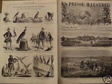 LA PRESSE ILL 1868 N 45 L'EMPEREUR AU CAMPS DE CHÂLONS