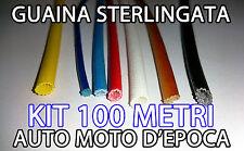 100 metri FILO CAVO GUAINA ISOLANTE STERLINGATA PER AUTO E MOTO EPOCA