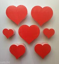 50 - 200 Herzen 3 Größen aus Karton rot Preisschild Räumungsverkauf deko