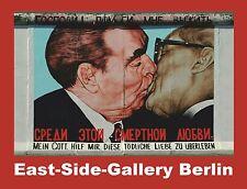 """3 Stück EAST-SIDE-GALLERY Kühlschrank-Magnet 8x6cm """"Bruderkuss"""" Berliner Mauer"""