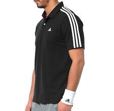 Adidas ESS 3S Herren Polo Shirt Pique T-Shirt Sport Freizeit Hemd schwarz/weiss