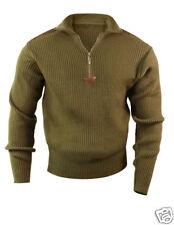 Rothco 3370 Olive Drab Quarter Zip Acrylic Commando Sweater