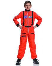 Orange Astronaut Jumpsuit Space Shuttle Galaxy Boys Halloween Costume