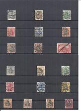 Deutsches Reich 1900 - 1902, Einzelmarken ex Michelrummen: 53 - 77 o, gestempelt