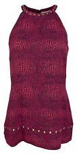 Michael Michael Kors Women's Printed Studded Halter Top