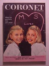 CORONET February 1959 DOUGLAS GORSLINE TWINS LONDON JACQUES PREVERT RED BUTTONS