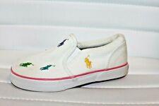 Polo Ralph Lauren Harbour White Multi Color Toddler Slip On Shoes MSRP $50 NEW