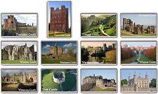 FRIDGE MAGNET - UK CASTLES - (Various Design) --- Large British