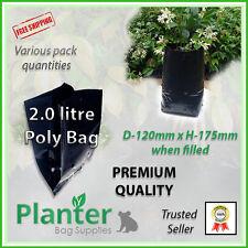 2.0 litre Premium Planter Bags - varying quantities. Poly Plant bag, Grow bag