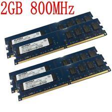 8GB 8G 4x 2GB / 1GB PC2-6400U DDR2-800 Dual Channe Desktop PC RAM For Elpida LOT