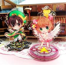 Anime Card Captor Sakura Figure Keychain Key Ring Acrylic Cosplay Stand Gift