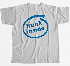 Hunk Inside Computer Geek Drôle Parody T-shirt Homme
