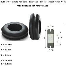 """16mm 5/8"""" cable automotriz de 50 piezas Arandelas de Goma Anillo abierto de cableado eléctrico"""