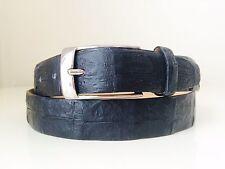 REAL CROCODILE SKIN leather belt matte black size 38 3 buckle styles!