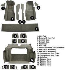 1981 - 1982 Corvette C3 Complete Carpet Set W/Door Panel Inserts (16 Piece)