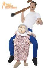 Adult Piggy Back Grandma Costume Ride On Granny Fancy Dress Pick Me Up Piggyback