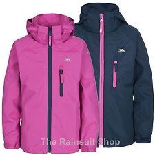 TRESPASS Girls Waterproof Raincloud Hooded Rain Jacket Coat Kids Childs 5-12yrs