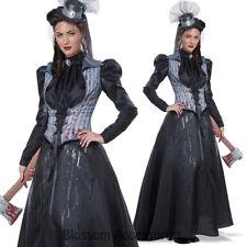 CA104 Lizzie Borden Axe Killer Murderer Halloween Zombie Haunted House Costume