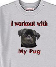 Dog T Shirt - I workout with My Pug Adopt Rescue Animal Men Women # 41