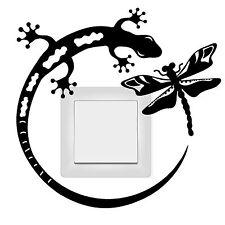10898 INTERRUPTOR LUZ tomacorriente ADHESIVO Gecko Lagarto Libélula