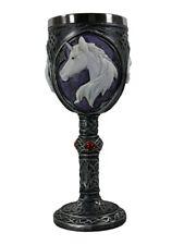 Goblet Unicorn Refreshment Black 7 x 19cm