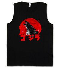 GODZILLA VINTAGE LOGO TANK TOP VEST Japan Goijra Tokyo Nippon King Monster Kong