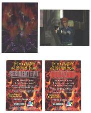 RESIDENT EVIL Chromium Trading Cards PROMO Set. Ultra Rare! Complete 2-card set.