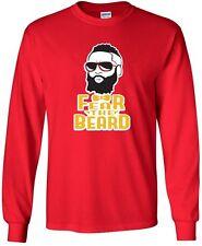 "James Harden Houston Rockets ""Fear The Beard"" Mens & Youth Long Sleeve T-Shirt"