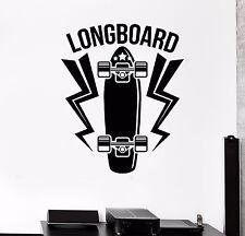 Vinyl Wall Decal Longboard Skateboard Sport Art Room Mural Stickers (516ig)