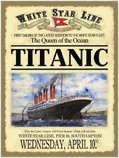 Titanic advert (date at bottom) metal sign 400mm x 300mm  (og)