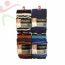 6 12 Pack Men's Classic Soft Rib Cotton Blend Striped Fashion Boxer Shorts Pants