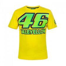 Oficial Valentino Rossi VR46 MotoGP 46 valeyellow Algodón Camiseta-Amarillo