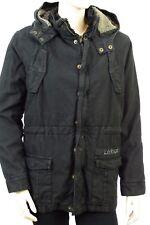 Veste Parka JAPAN RAGS chaude junior noir stoné taille 12 ans