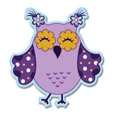 Owl Cute Purple Car Vinyl Sticker - SELECT SIZE