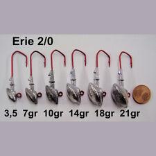 Erie Jigs VMC Barbarian 5150 RD Größe 1 Jigköpfe 3,5g bis 18g Jighaken