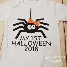 Baby Spider Costume 1st Halloween Vest Bodysuit Outfit Newborn -24m romper Gift