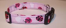Wet Nose Designs Pink Ladies Dog Collar Ladybugs Spring Springtime Hearts Red