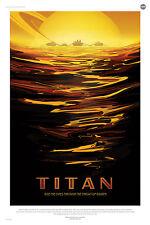Titan de la nasa le tourisme spatial espace imprimé poster