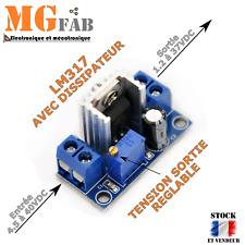 Module LM317 ENTREE 4,5 à 40Vdc SORTIE 1,2 à 37Vdc 1,5A réglable |  Arduino 7805