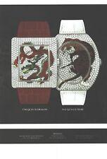 PUBLICITE   2012   FRANCK MULLER  MONTRE cd DRAGON & cd TIGRE