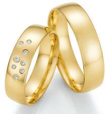 Paar Eheringe Verlobunsringe Trauringe Hochzeitsring Goldring Weißgold Brillant