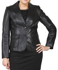 Women's Stylish Classic Genuine Lambskin Nappa Leather Blazer WB 18