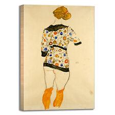 Schiele donna in piedi design quadro stampa tela dipinto telaio arredo casa