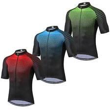 Herren Fahrradshirt Kurzarm Radsport Trikot Cycling Jersey Blau Grün Rot S-5XL