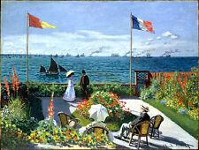 Claude Monet Garden canvas print giclee 8X12&12X17 reproduction art poster